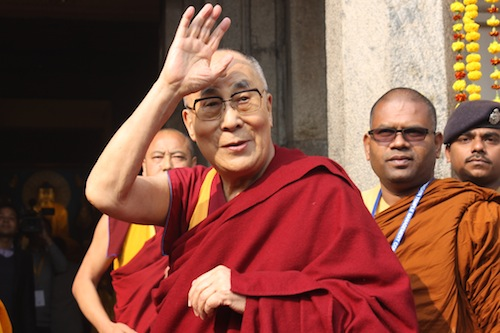 His Holiness The Dalai Lama Offers Prayers At Mahabodhi And