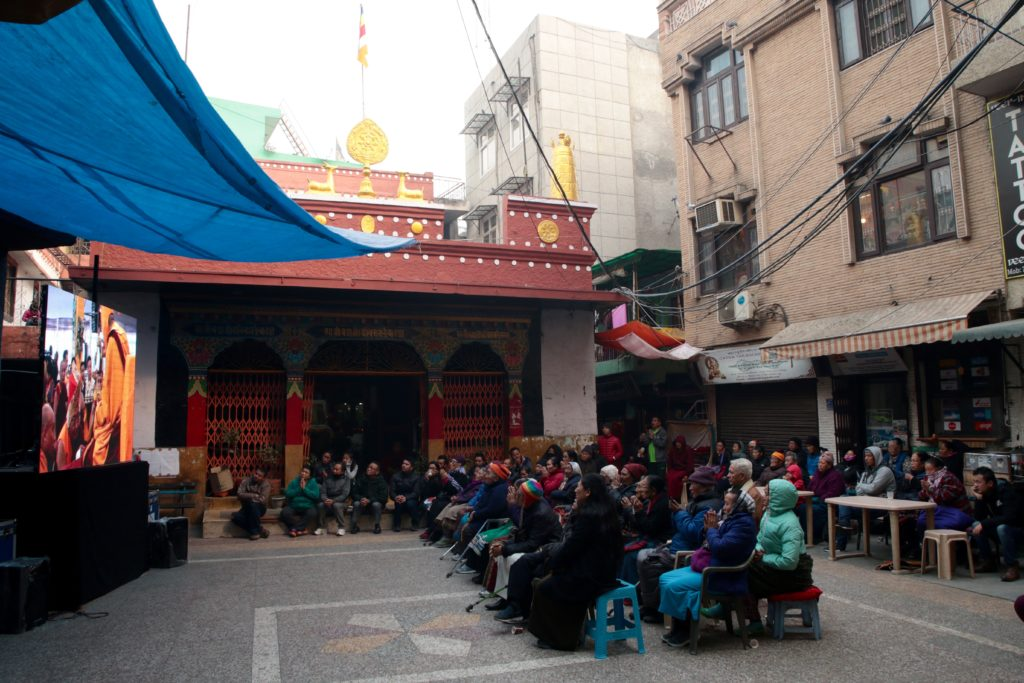 Public Screeing of Live Webcast of Kalachakra in Majnukatilla.