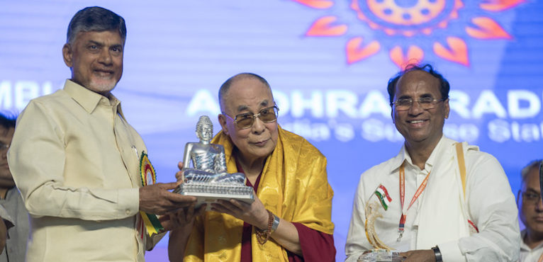 His Holiness the Dalai Lama and Andhra Pradesh CM Inaugurates First Ever National Women's Convention in Amaravati