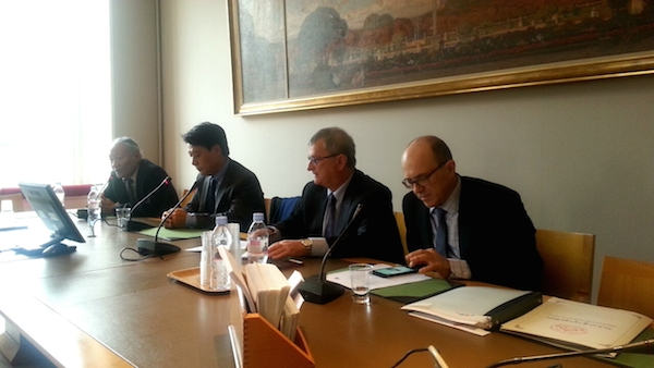 The meeting of Tibet group in French Senate in progress.