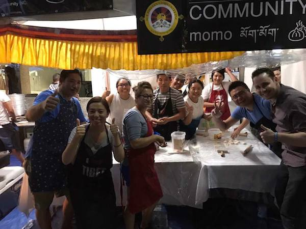 Andrew Hinge from My Kitchen Rules (MKR 2014) in ACT Tibetan Community momo stall.