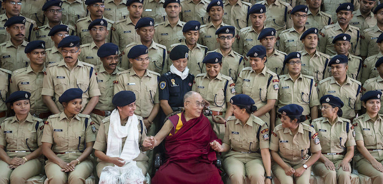 In Photos: His Holiness the Dalai Lama Visits Sardar Vallabhbhai Patel National Police Academy in Hyderabad – 11 February 2017
