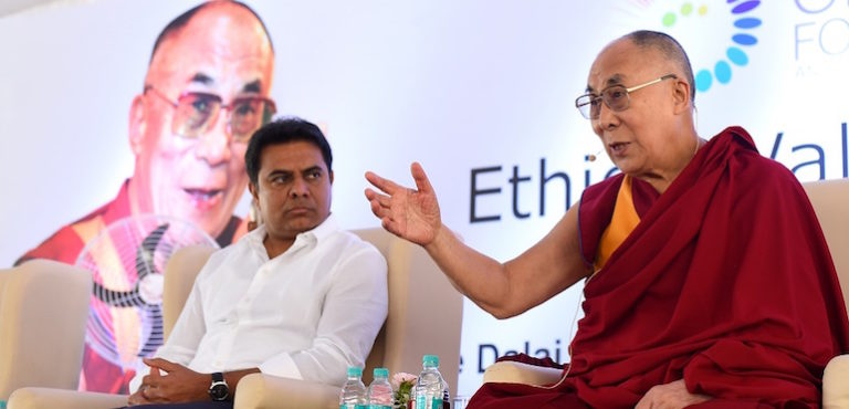 His Holiness the Dalai Lama Lays Foundation Stone for New Dalai Lama Center in Hyderabad
