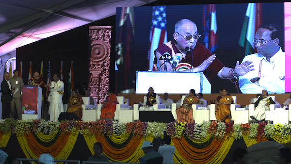 His Holiness the Dalai Lama addressing the inaugural ceremony of the first ever National Women's Parliament-2017' at Amaravati, 10 February 2017.