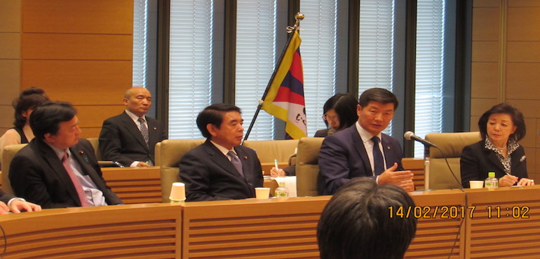 Sikyong addresses Japanese Parliament Members at Parliament Building