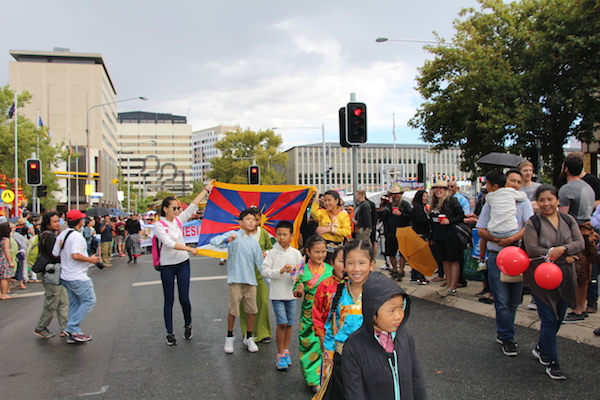 Tibetan Kids taking part in Multicultural Festival parade