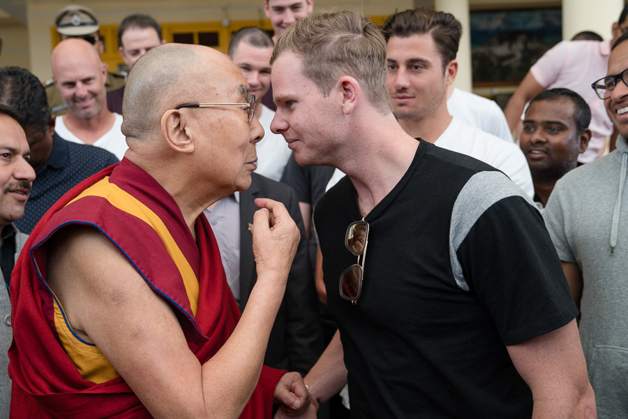 His Holiness Meets with the Australian Cricket Team in Dharamsla, HP