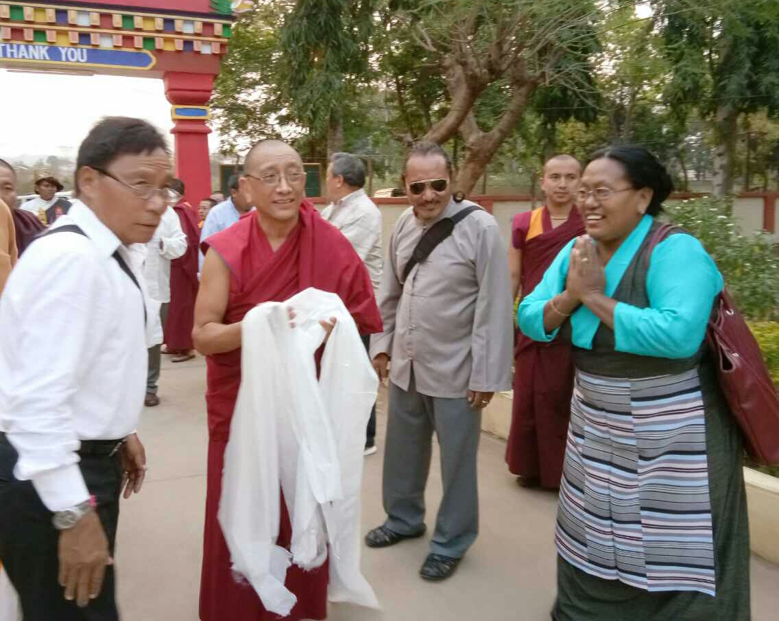 Members of Tibetan community in Odisha welcome Kalon Karma Gelek Yuthok.