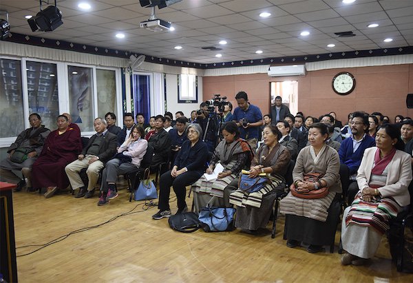 Members of audience, including Tibetan parliamentarians and officials of CTA listening to the talk.