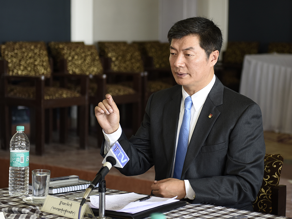Sikyong Dr Lobsang Sangay at the inaugural session of the two-day meeting.