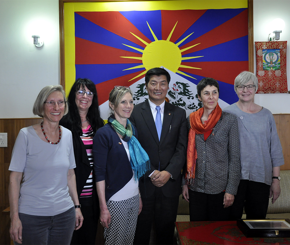 Sikyong Dr Lobsang Sangay with the delegation from Swiss parliament at Kashag Secretariat, 28 March 2017.