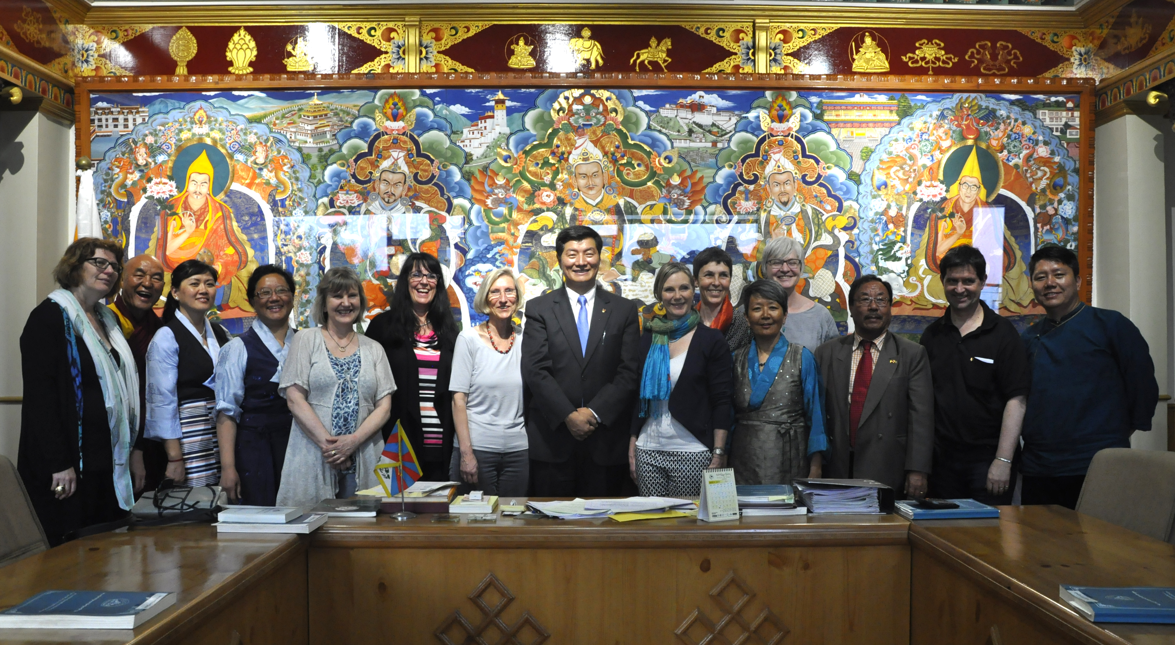 Sikyong Dr Lobsang Sangay with the swiss parliamentary delegation, members of Tibetan parliament from Europe, Ven Thupten Wangchen and Samdho, President and board members of Swiss Tibet Friendship and representative of Tibetan community in Switzerland and Li
