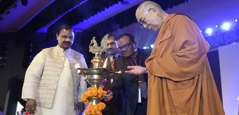 His Holiness the Dalai Lama Inaugurates 'International Conference on Buddhism in 21st Century' at Rajgir
