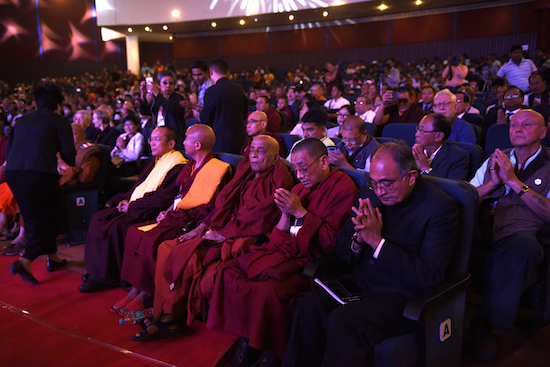 Kalon Karma Gelek Yuthok with spiritual leaders at the conference.