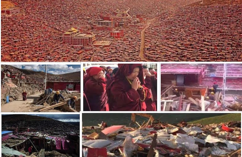 Larung Gar--Before and After the Demolitions