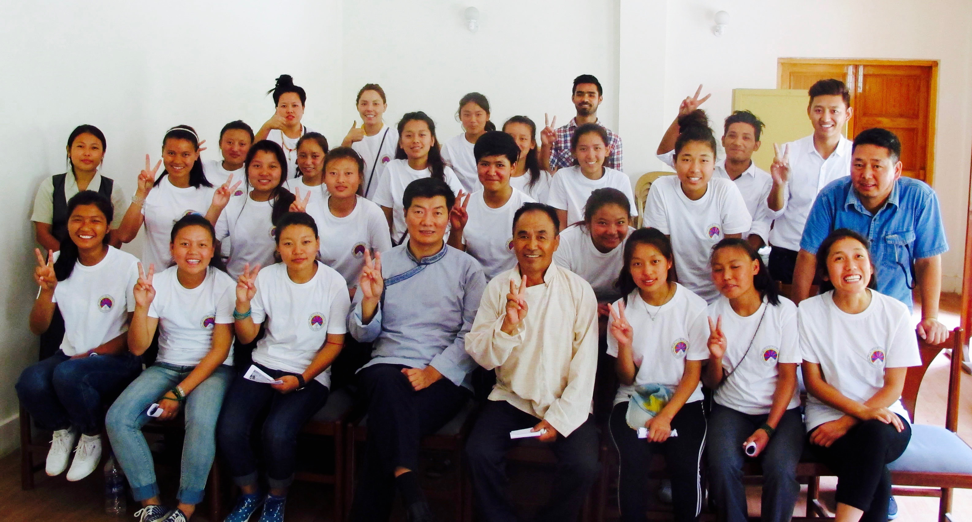 Sikyong Dr. Lobsang Sangay with Women's Team managed by TNSA