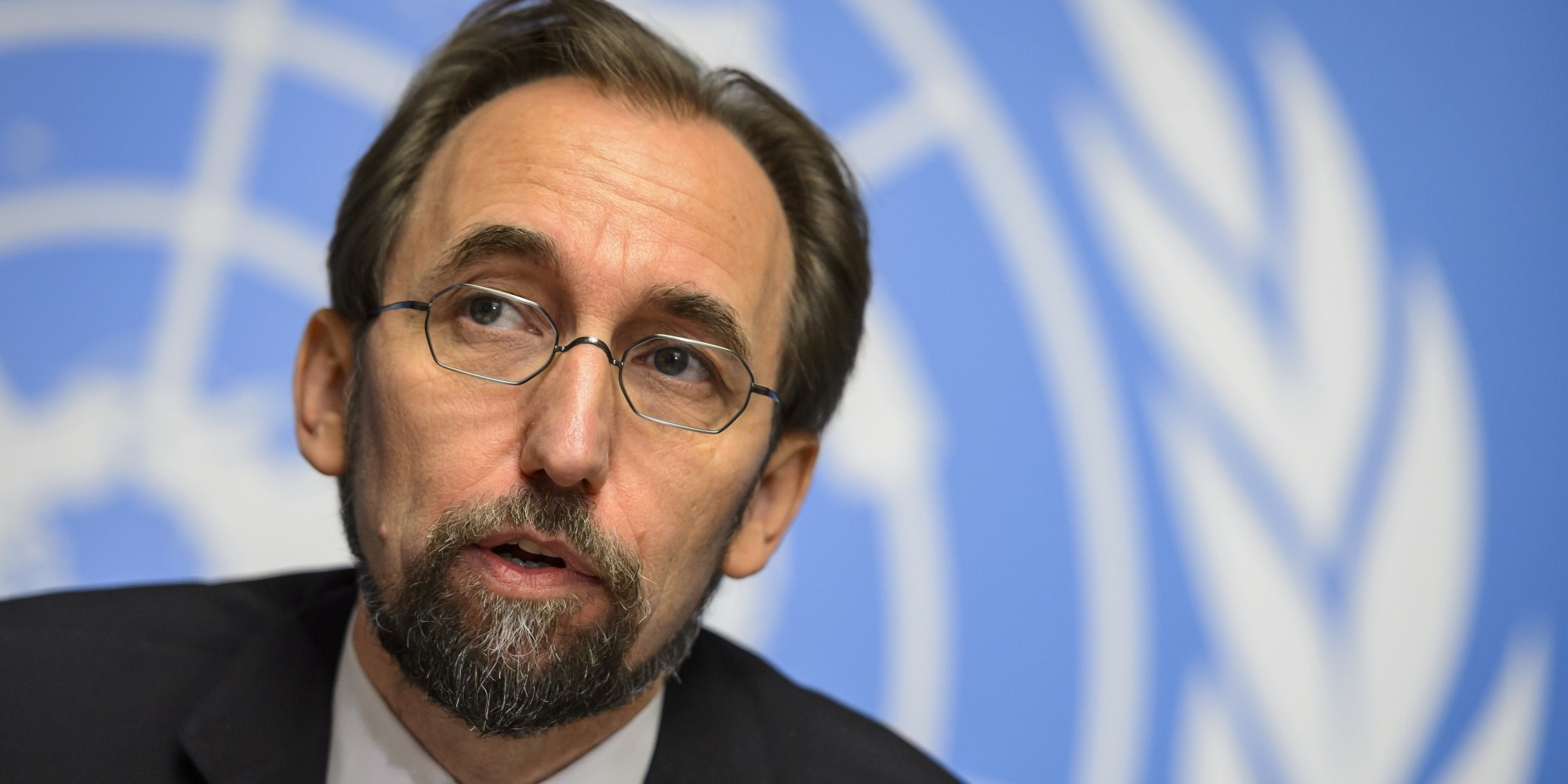 New High Commissioner of the United Nations (UN) for Human Rights, Zeid Ra'ad al-Hussein of Jordan, attends a press conference on October 16, 2014 in Geneva. AFP PHOTO / FABRICE COFFRINI (Photo credit should read FABRICE COFFRINI/AFP/Getty Images)