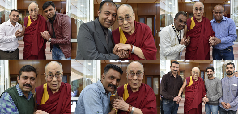 His Holiness the Dalai Lama Grants Audience to Indian Media