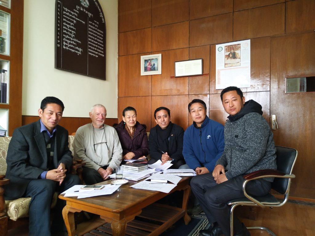 From left: Karma Singey, Leo Knudsen, Nangsa Chodon, Ngawang Yonten, Tenzin Dorjee & Tenzin Gelek