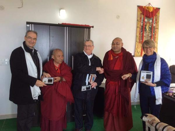 The delegation with Speaker Khenpo Sonam Tenphel and Deputy Speaker Acharya Yeshi Phuntsok of the Tibetan Parliament-in-Exile.