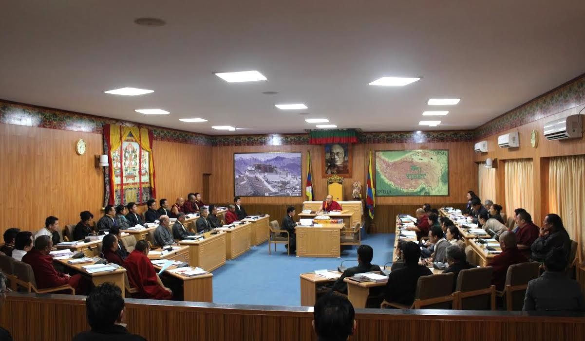 Third session of the 16th Tibetan parliament in progress.
