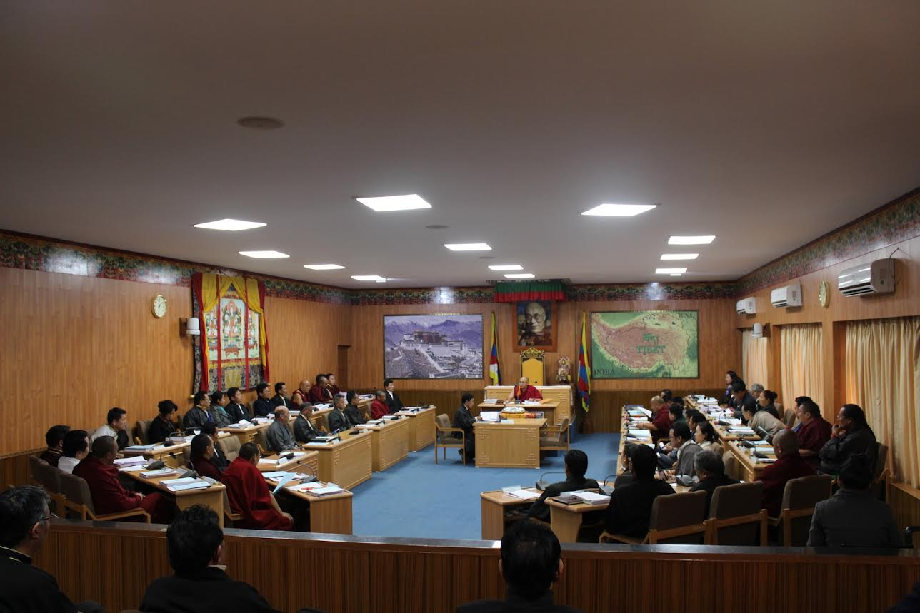 The budget session of the 16th Tibetan Parliament in progress.