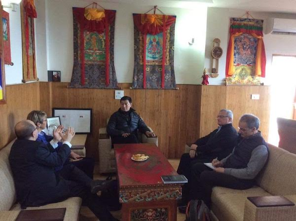 The delegation meeting with Sikyong Dr Lobsang Sangay.
