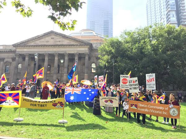 Melbourne, infront of State Liberty of Victoria.