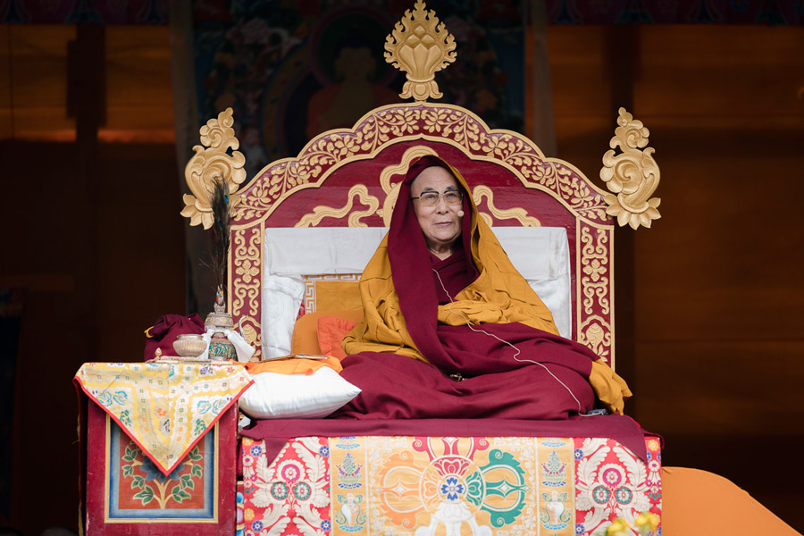 His Holiness the Dalai Lama during his teachings at Buddha Park in Bomdila, Arunachal Pradesh on April 5, 2017. Photo by Tenzin Choejor/OHHDL
