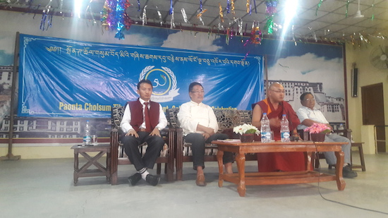 Home Kalon Sonam Topgyal Khorlatsang and Speaker Khenpo Sonam Tenphel at