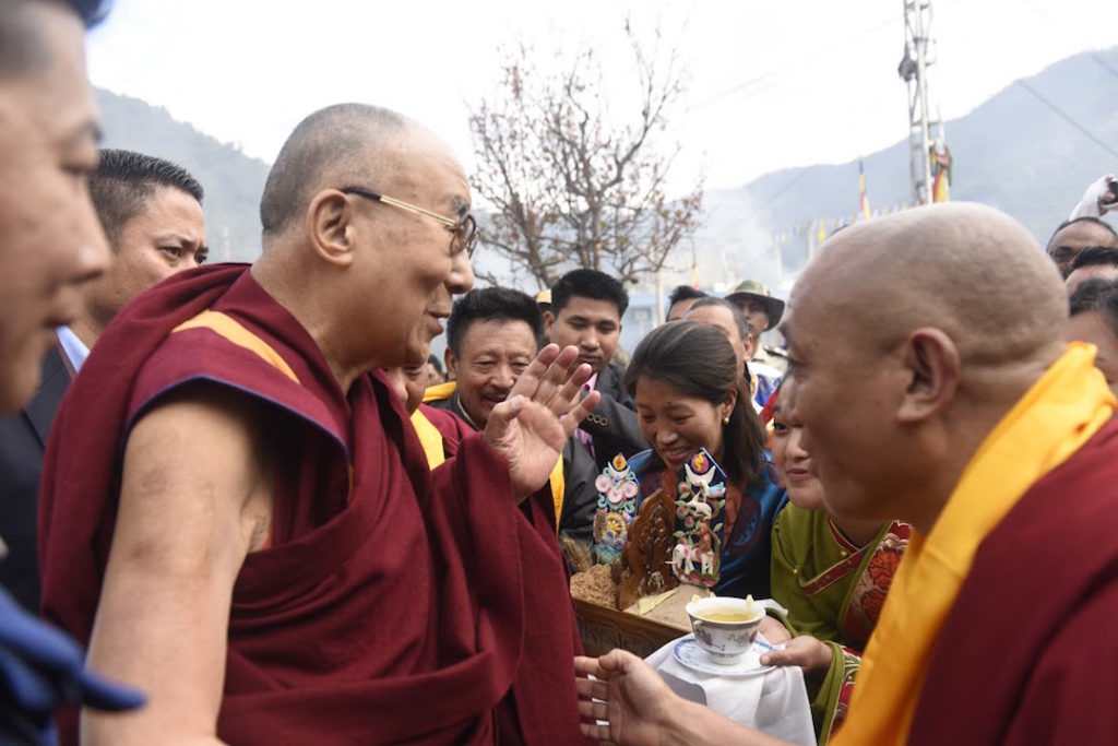 His Holiness the Dalai Lama Arrives in Tawang. Photo @ Jamyang Tsering, DIIR