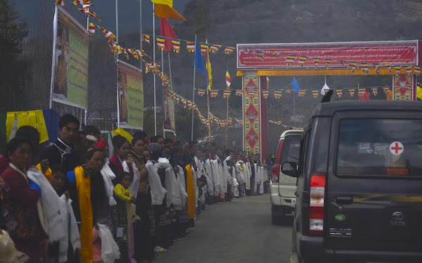 Tawang welcomes His Holiness the Dalai Lama, 7 April 2017. Photo@Jayang Tsering, DIIR