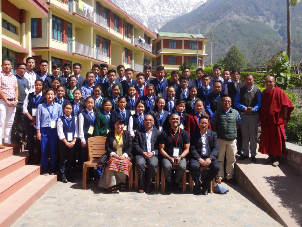 A group photo of the participants with Education Kalon Ngodup Tsering.