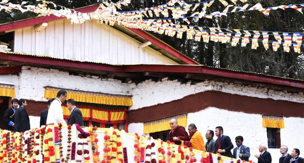 His Holiness the Dalai Lama at Ugyen Ling, the birthplace of 6th Dalai Lama (Tsangyang Gyatso). Photo @ Jamyang Tsering / DIIR