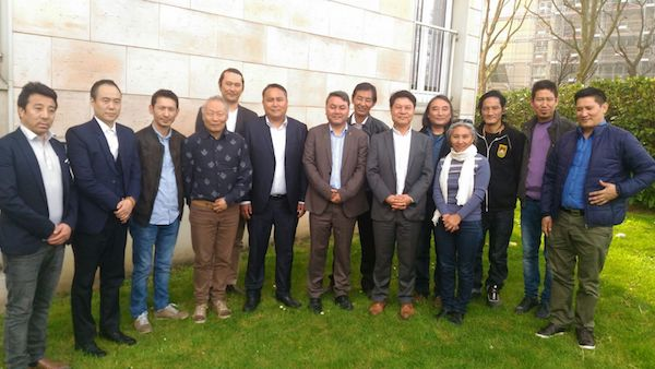 Group photo with the executive members of Tibetan community France and representatives of local Tibetan NGOs.
