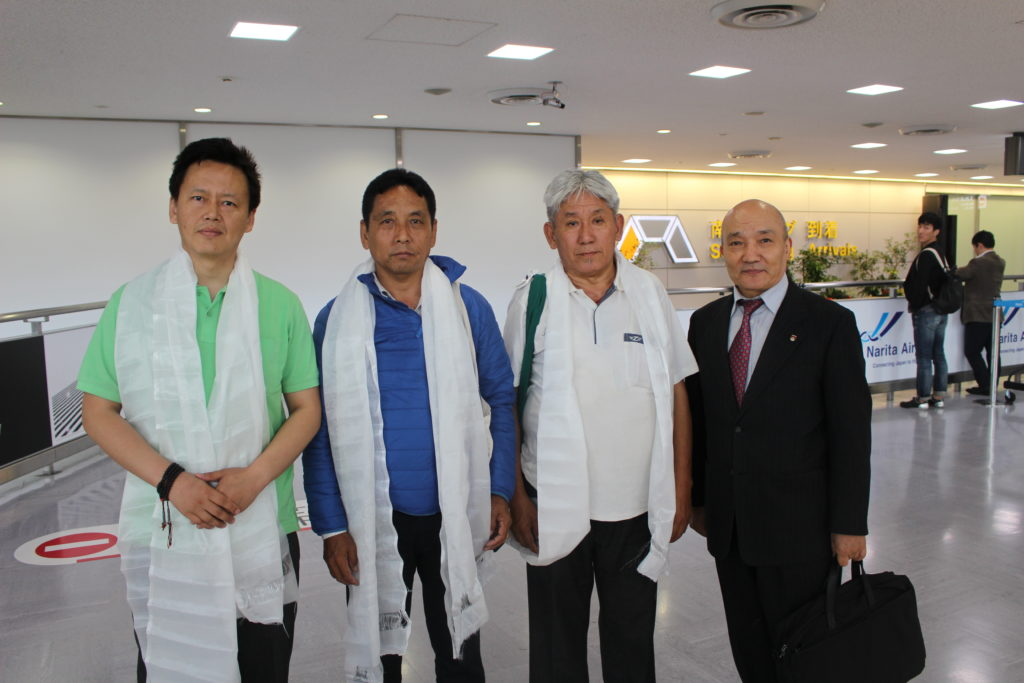 Representative Lungtok with the Tibetan Parliamentarians.