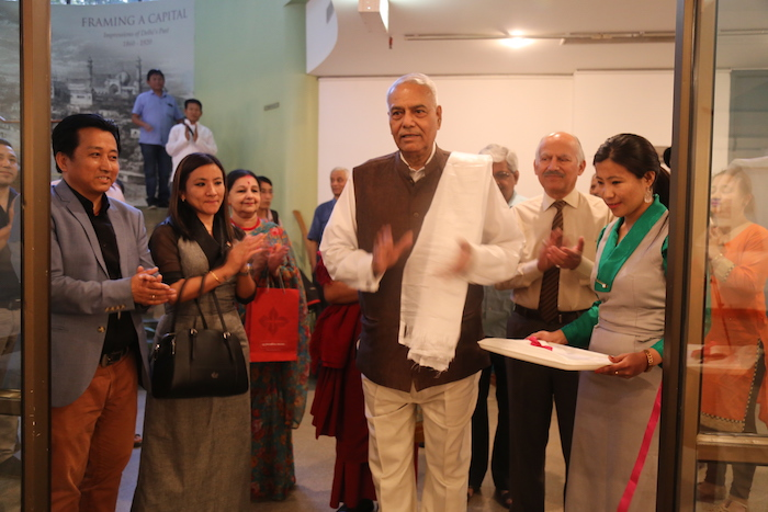 Former Indian Foreign and Finance Minister Shri Yashwant Sinha Inaugurates the Photo Exhibition on 'Revisiting Cultural Revolution in Tibet.'
