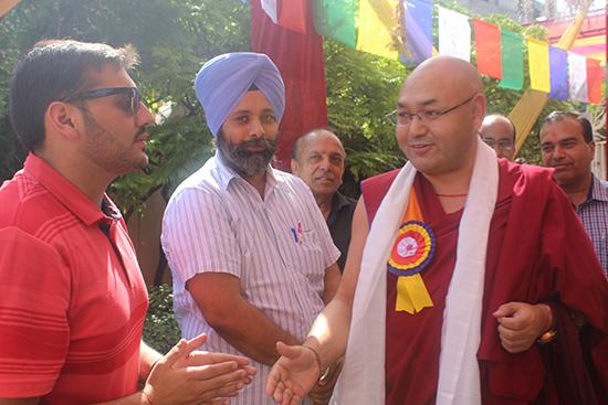 Speaker Khenpo Sonam Tenphel meeting Indian traders.