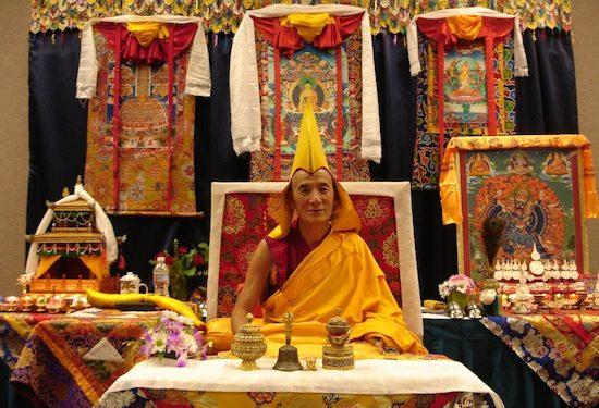 103rd Gaden Tripa H.E. Jetsun Lobsang Tenzin Rinpoche.