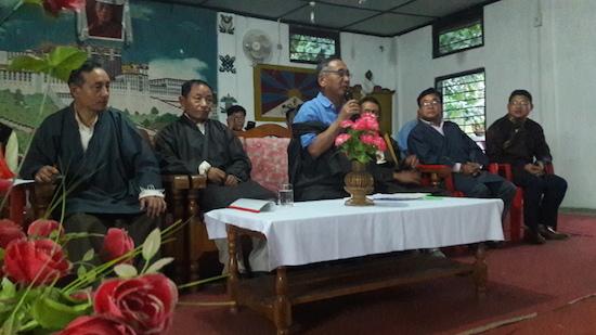 Education Kalon addressing the Tibetan public at Miao, Arunachal Pradesh.