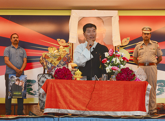 Sikyong Dr. Lobsang Sangay graces the First Special Conference of All India Tibetan Refugee Trader's Association, Ludhiana, April 11, 2017. Photo @ Lekmon, DIIR