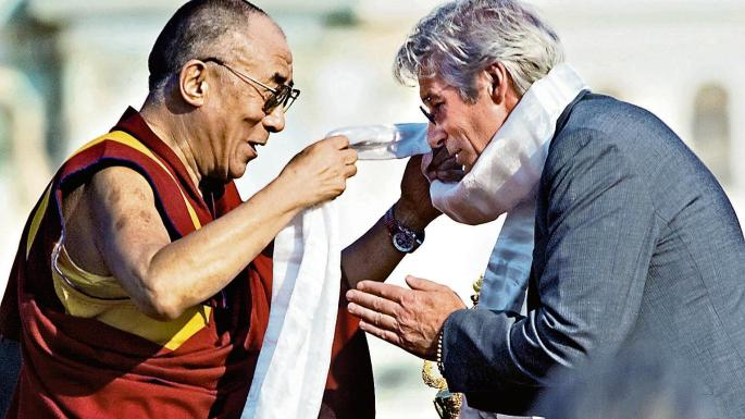 "In 1993 Richard Gere, a friend of the Dalai Lama, denounced Tibet's ""horrendous human rights situation"" MANDEL NGAN/ GETTY IMAGES"