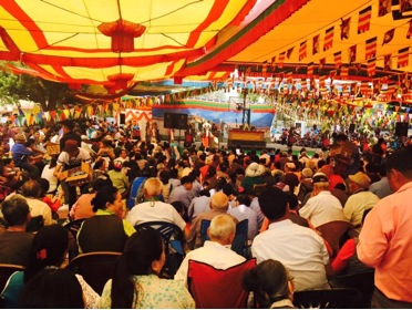 Rinpoche at the inaugural function of the 22nd Shoton festival in Dehradun.