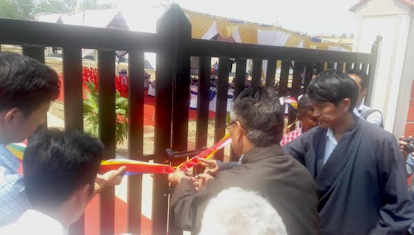 Home Kalon Sonam Topgyal Khorlatsang inaugurates Tsering Gepheling apartments for retired CTA officials.
