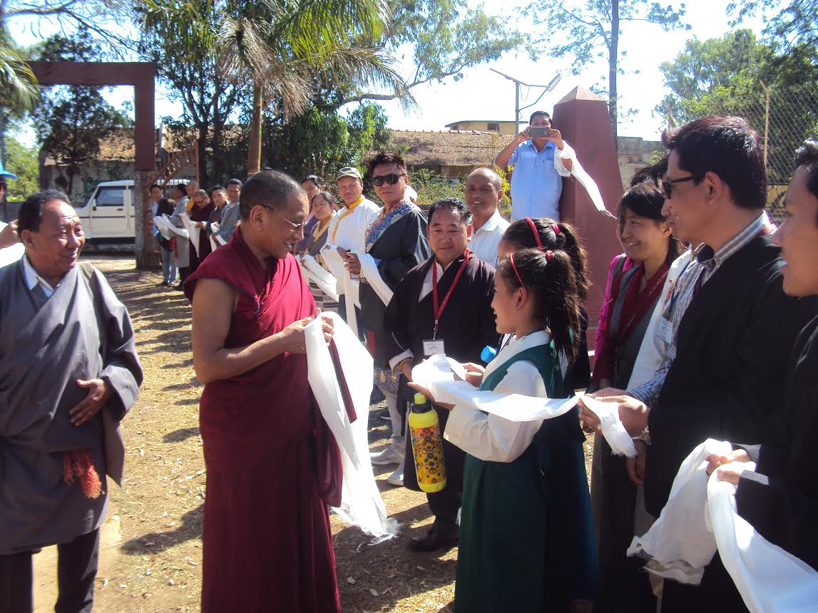 Members of local Tibetan community welcomes Kalon Karma Gelek Yuthok, Department of Religion and Culture, CTA.