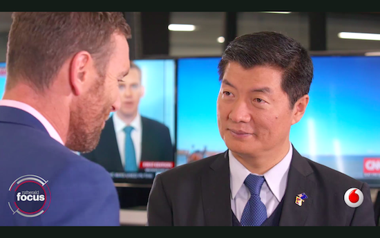 Dr Lobsang Sangay, President of Central Tibetan Administration speaking to Lincoln Tran of NZ herald.
