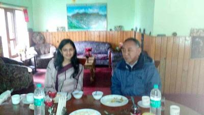 Kalon Ngodup Tsering meets with DC of West Kameng during his official visit to Tenzinkhang, Bomdila and Dirang from