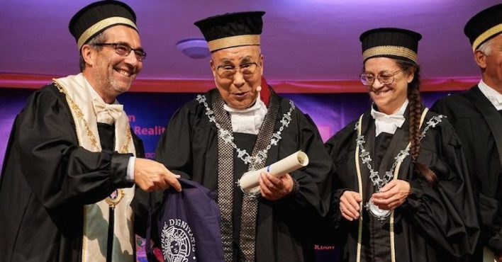 University of Pisa Confers Honorary Masters Degree to His Holiness the Dalai Lama