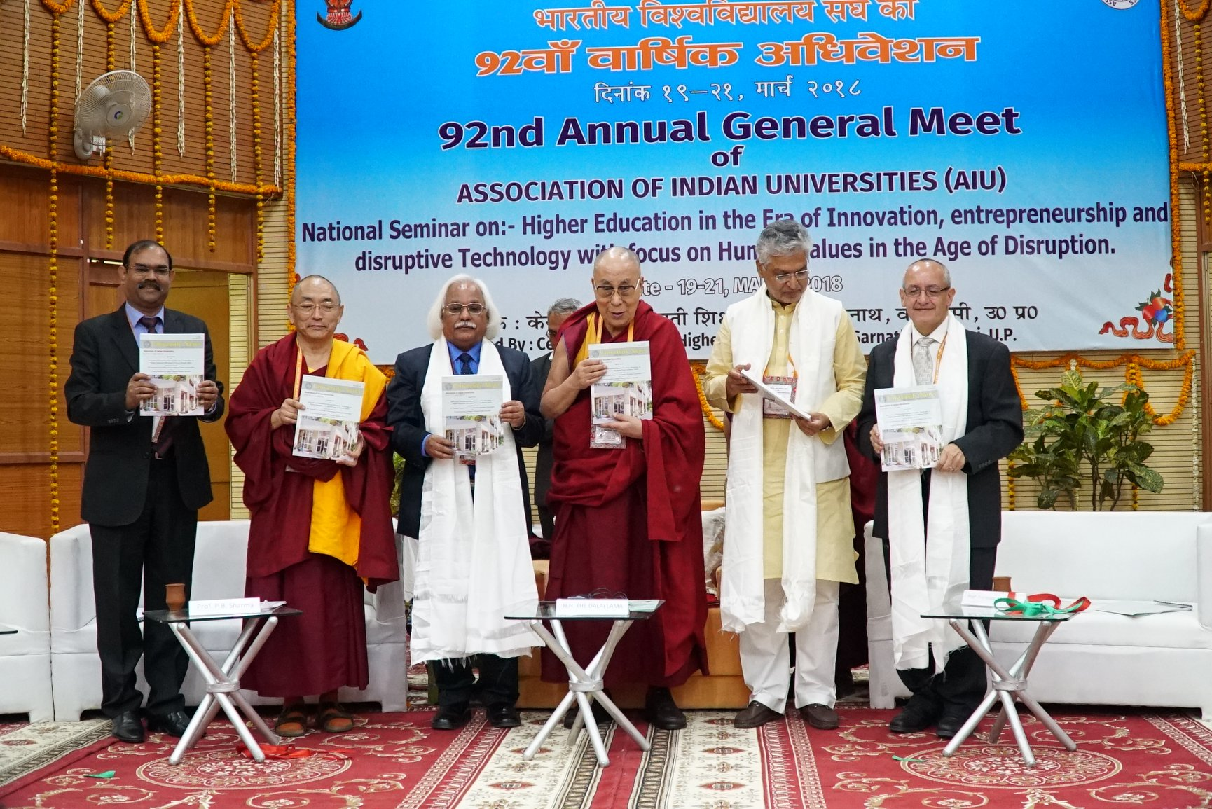 411c9599d2cb His Holiness the Dalai Lama releases the special issue of the 'University  News' and other publications of the Association of Indian Universities at  the 92nd ...