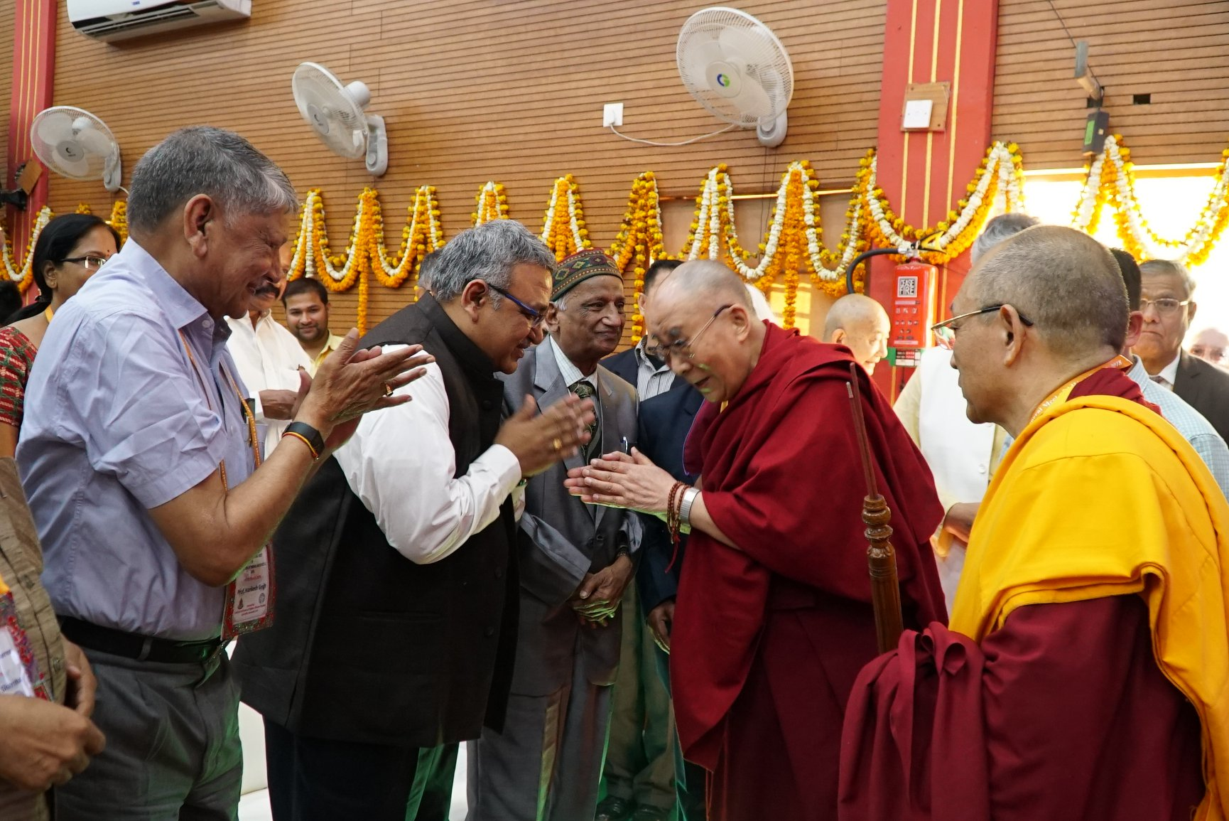 1d980400a963 His Holiness the Dalai Lama being welcomed at the 92nd Annual Meet of  Association of Indian Universities at Central Institute of Higher Tibetan  Studies, ...